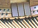 Expression Pedals are used by the organist to manipulate the adjustable louvers or Swell Shades with which enclosed divisions of the organ are provided.